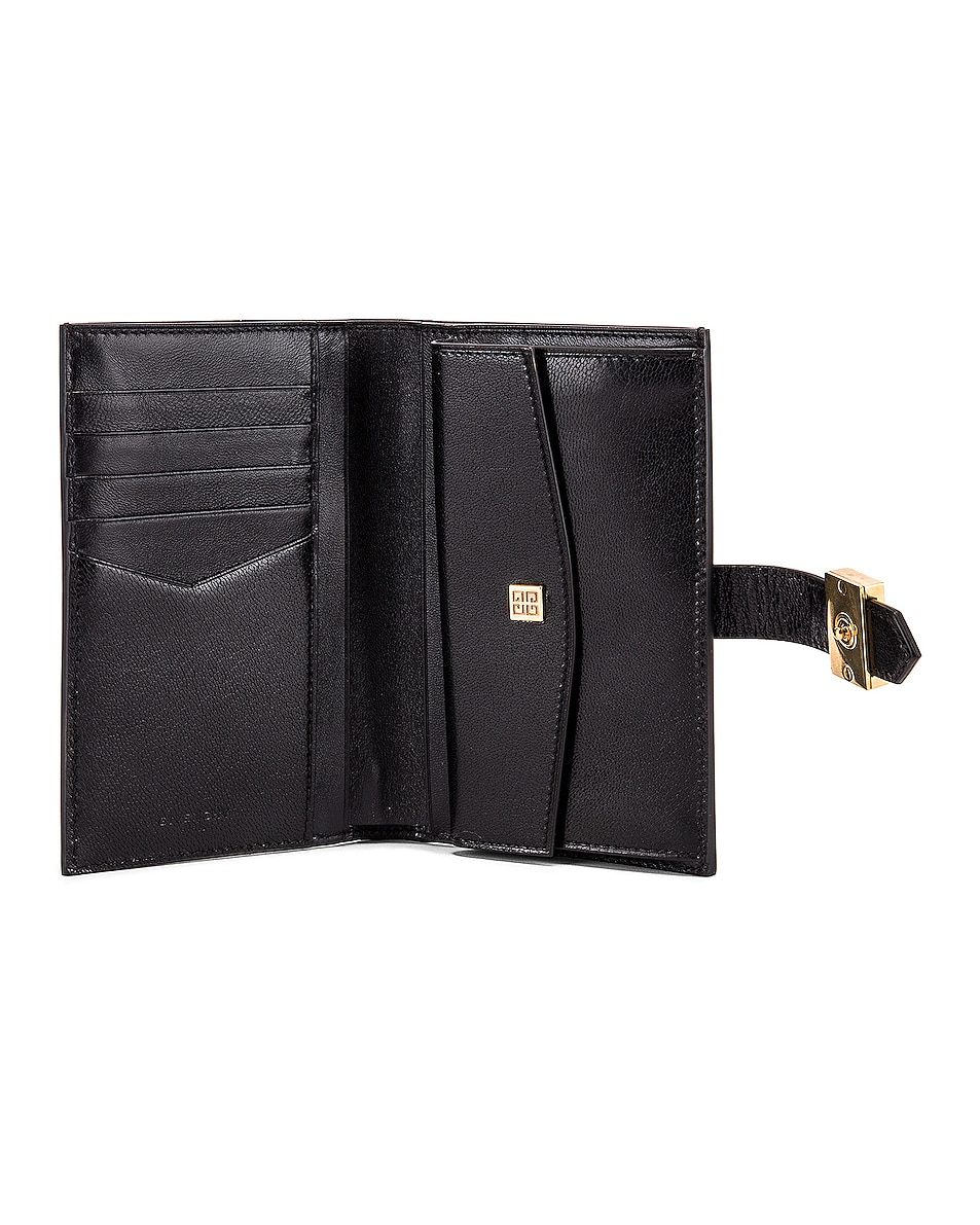 Image 4 of Givenchy Medium GV3 Bifold Wallet in Black