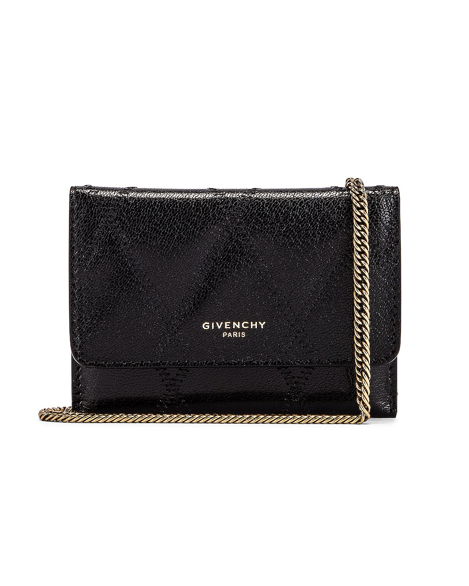 Image 1 of Givenchy Chain GV3 Card Case in Black