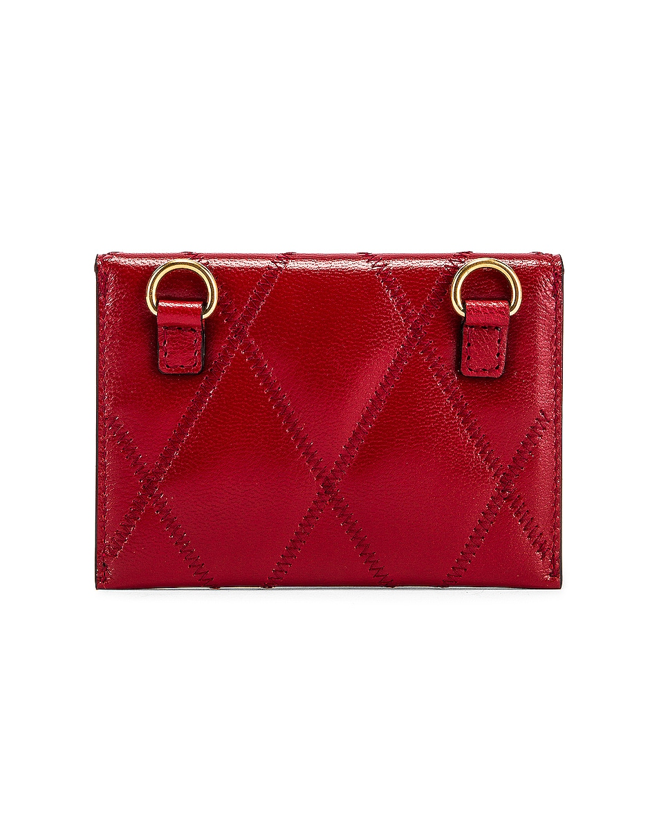 Image 3 of Givenchy Chain GV3 Card Case in Vermillion