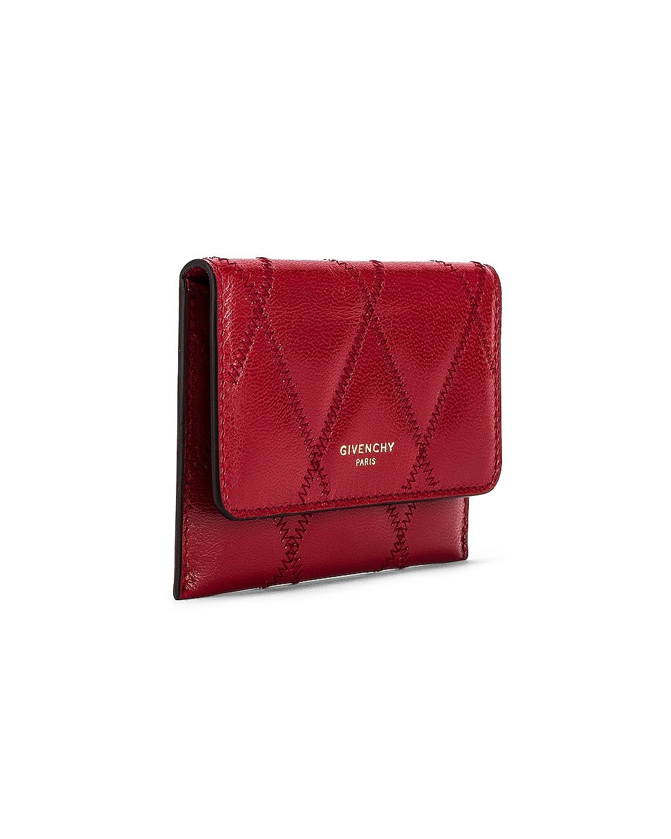 Image 4 of Givenchy Chain GV3 Card Case in Vermillion