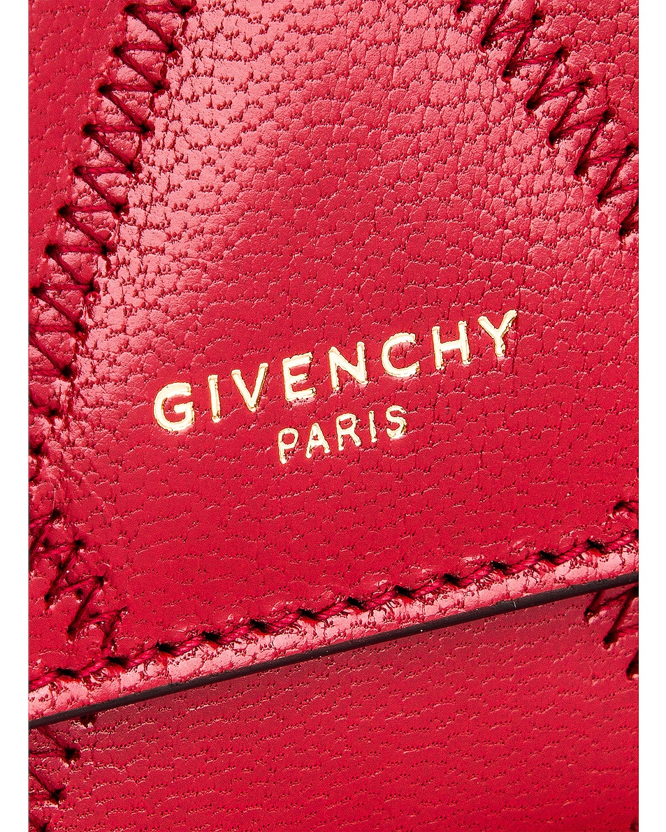 Image 7 of Givenchy Chain GV3 Card Case in Vermillion