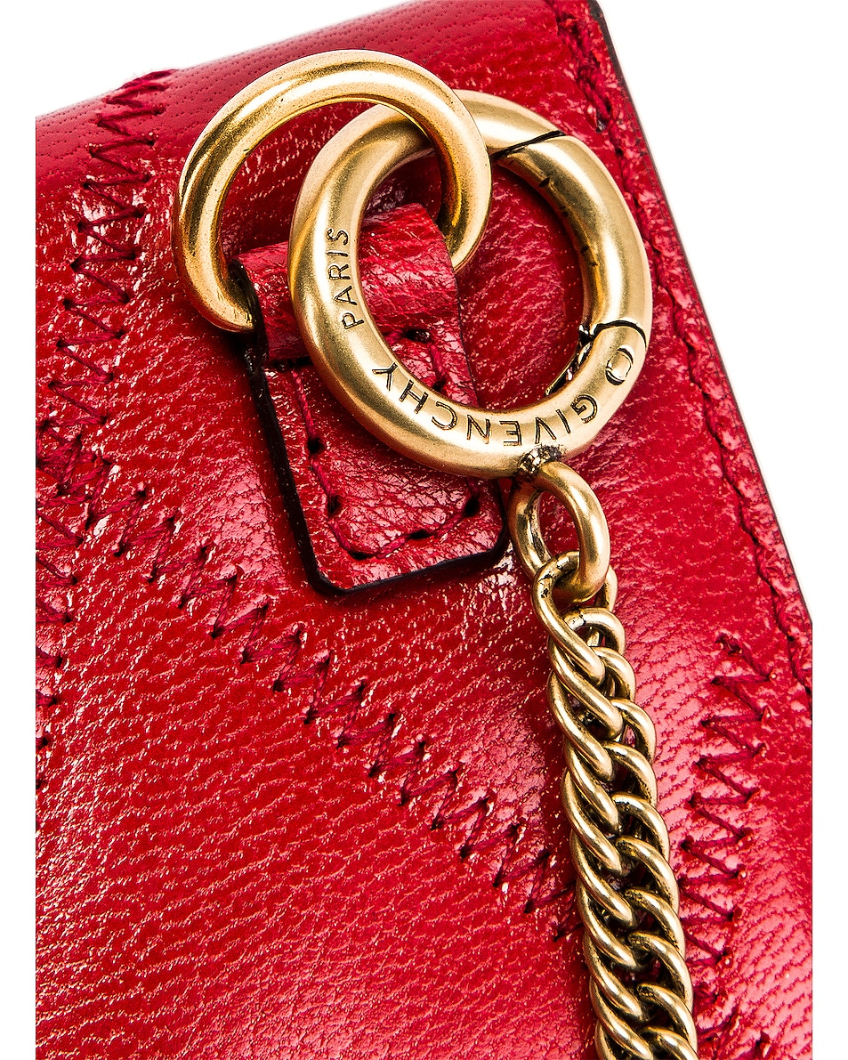 Image 8 of Givenchy Chain GV3 Card Case in Vermillion