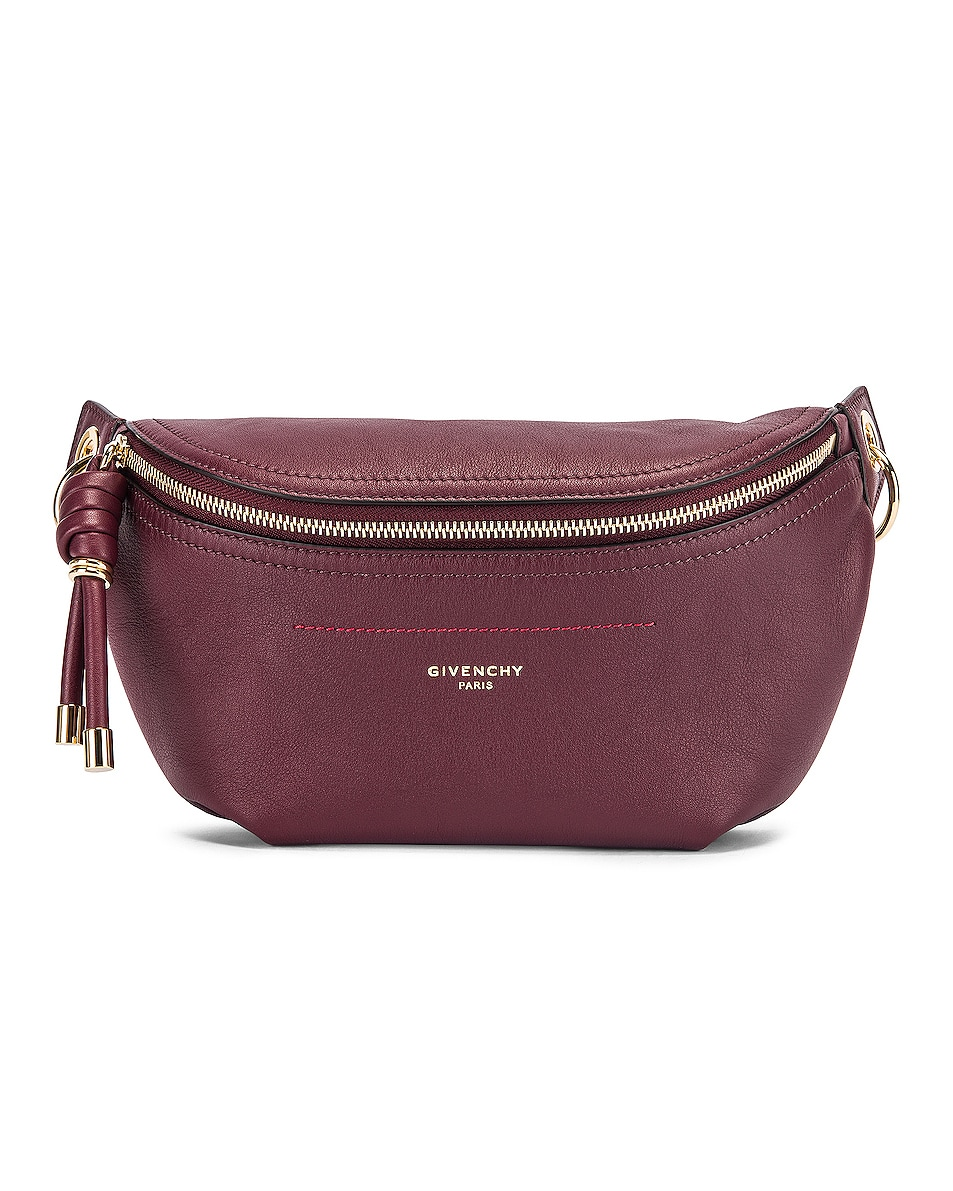 Image 1 of Givenchy Contrast Chain Whip Belt Bag in Aubergine