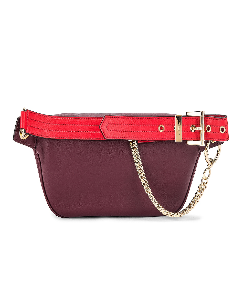 Image 2 of Givenchy Contrast Chain Whip Belt Bag in Aubergine