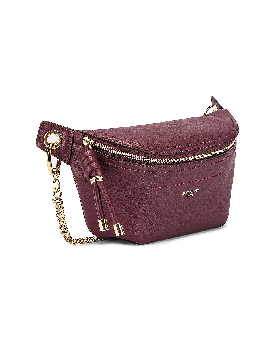Image 3 of Givenchy Contrast Chain Whip Belt Bag in Aubergine