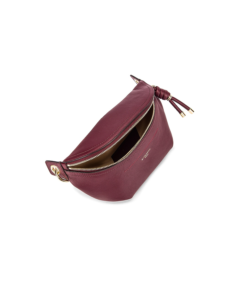 Image 4 of Givenchy Contrast Chain Whip Belt Bag in Aubergine