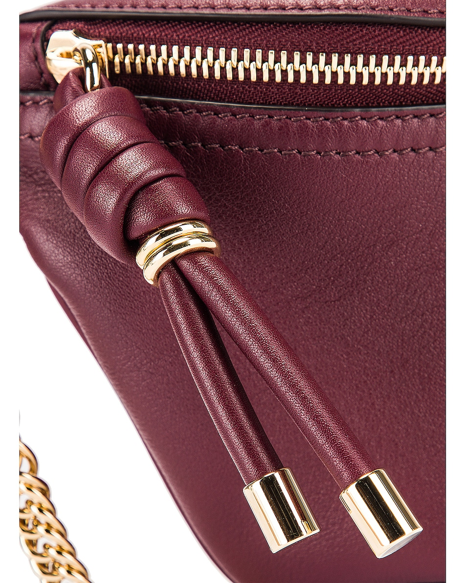 Image 6 of Givenchy Contrast Chain Whip Belt Bag in Aubergine