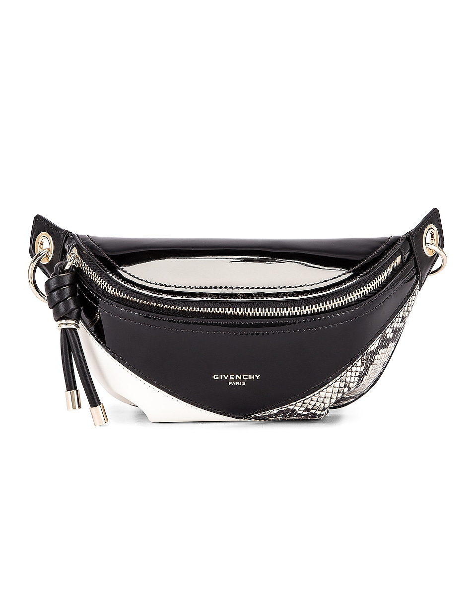 Image 1 of Givenchy Mini Whip Belt Bag in Black & White