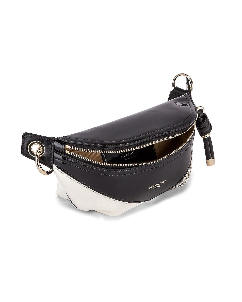 Image 5 of Givenchy Mini Whip Belt Bag in Black & White