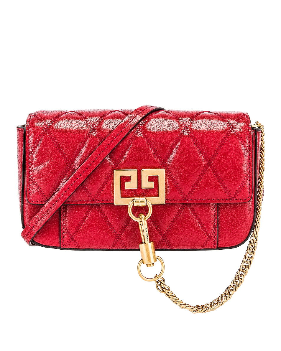 Image 1 of Givenchy Mini Pocket Chain Bag in Vermillion