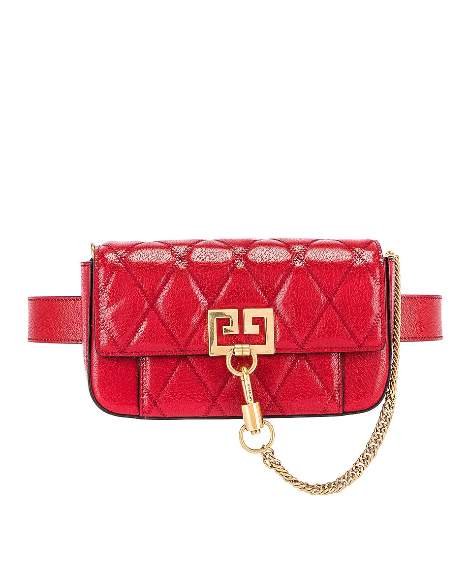 Image 4 of Givenchy Mini Pocket Chain Bag in Vermillion