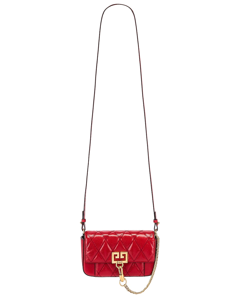 Image 6 of Givenchy Mini Pocket Chain Bag in Vermillion