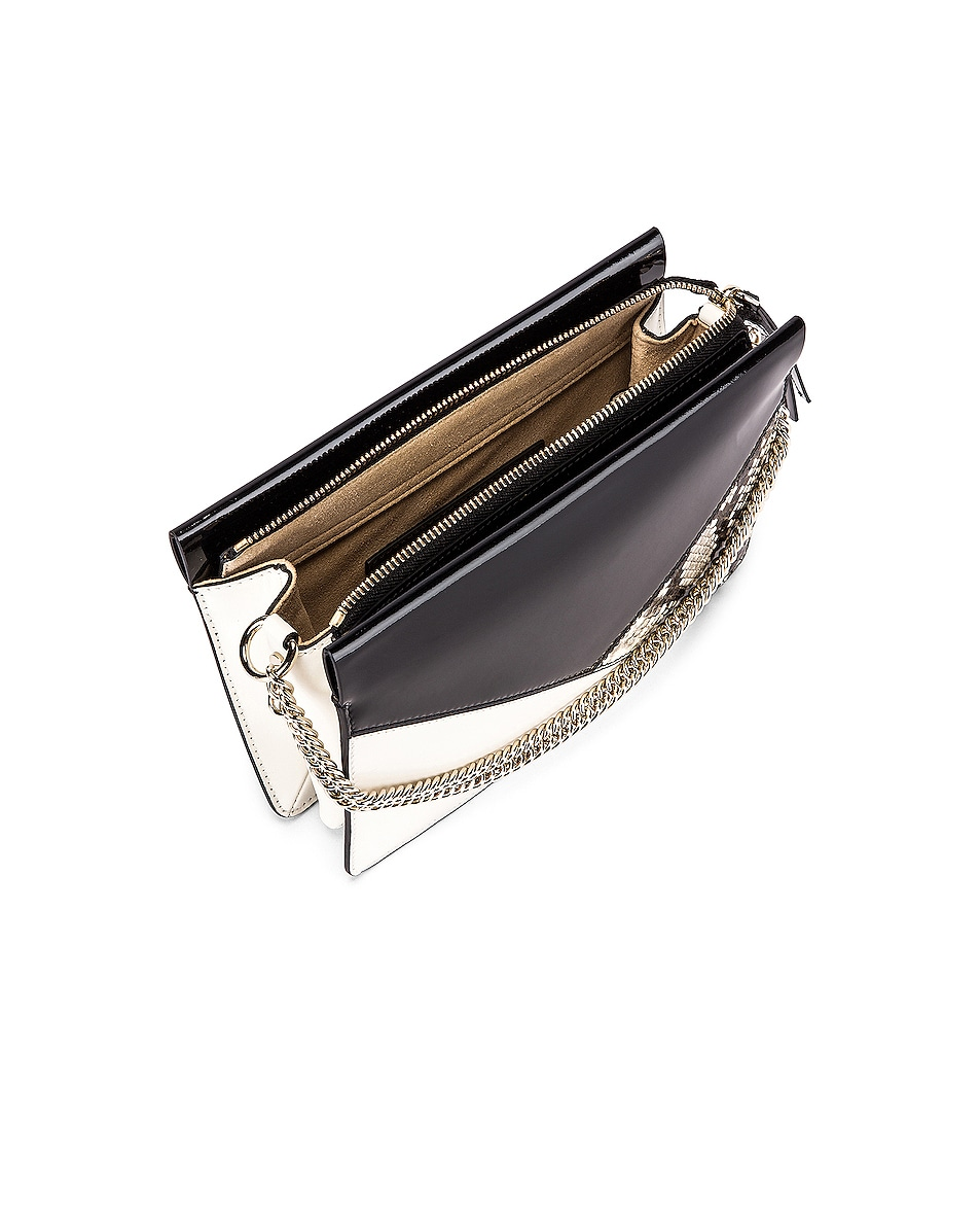 Image 5 of Givenchy Flat Mixed Leather Cross Bag in Black & White
