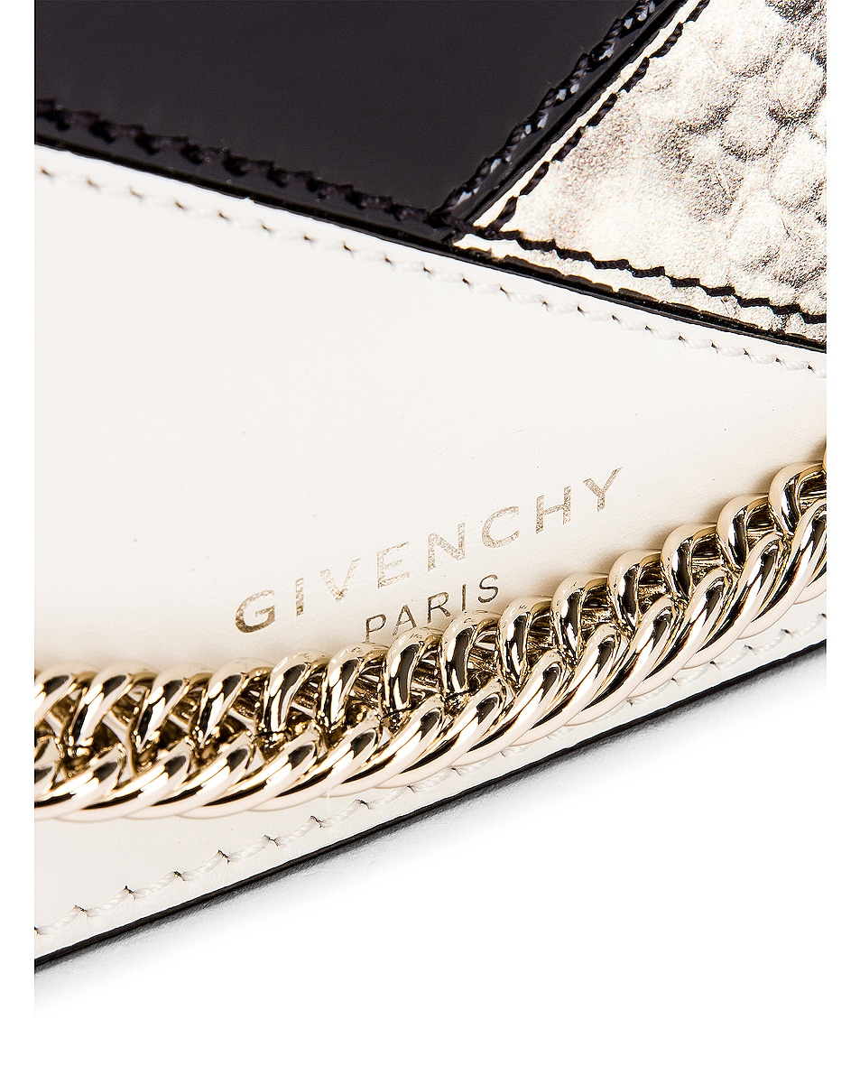 Image 8 of Givenchy Flat Mixed Leather Cross Bag in Black & White