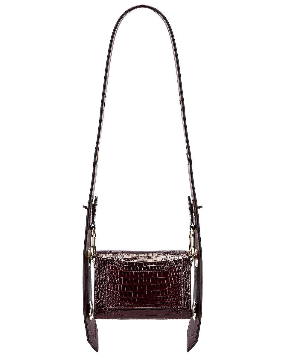 Image 4 of Givenchy Nano Eden Crocodile Embossed Leather Bag in Aubergine