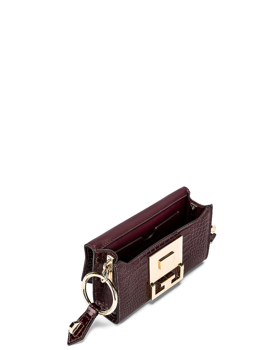Image 6 of Givenchy Nano Eden Crocodile Embossed Leather Bag in Aubergine