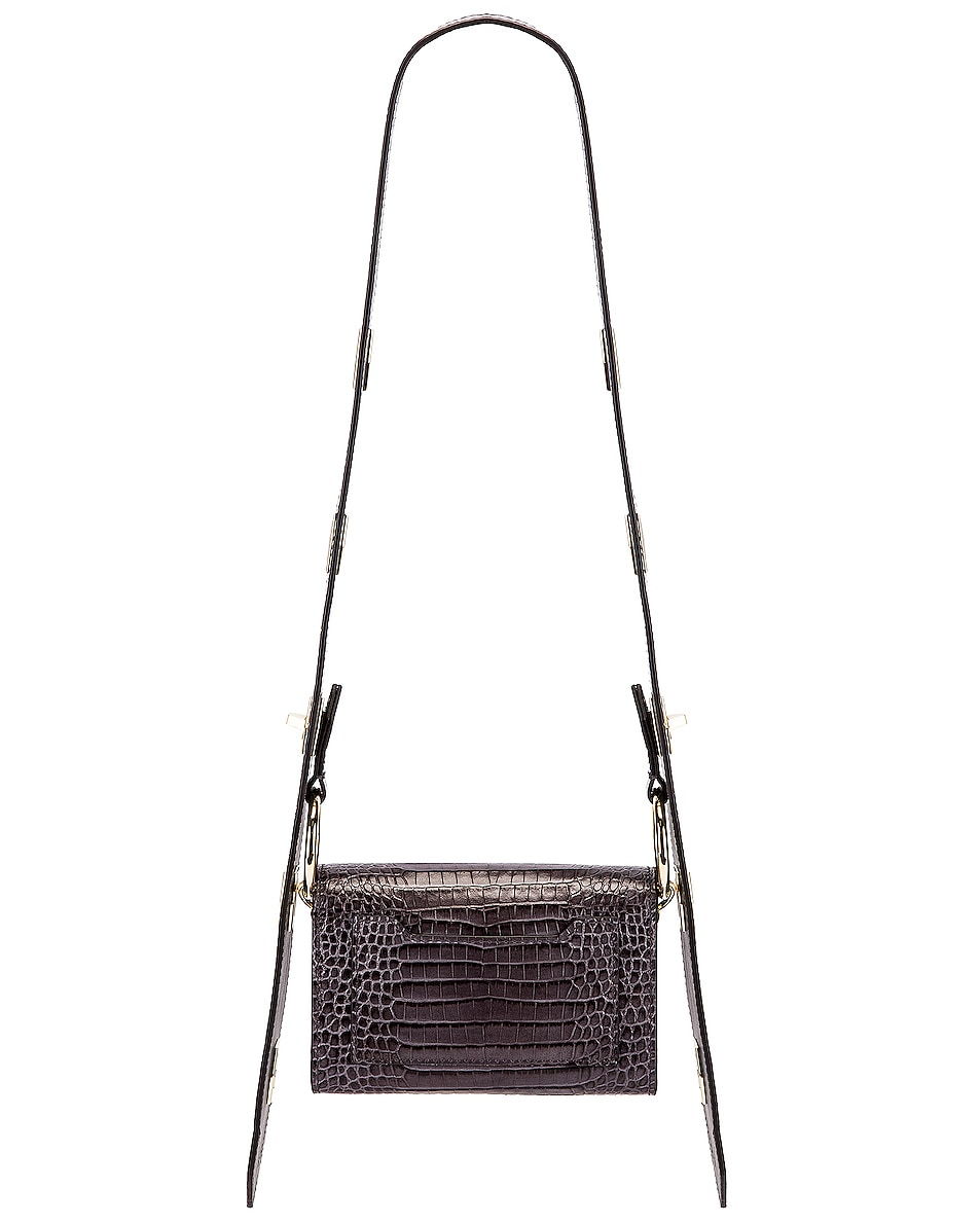 Image 4 of Givenchy Nano Eden Crocodile Embossed Leather Bag in Storm Grey