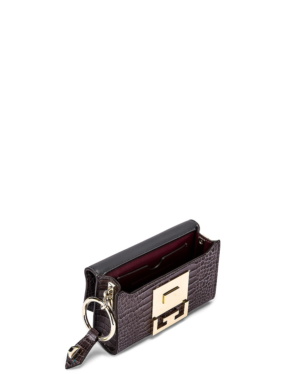 Image 6 of Givenchy Nano Eden Crocodile Embossed Leather Bag in Storm Grey