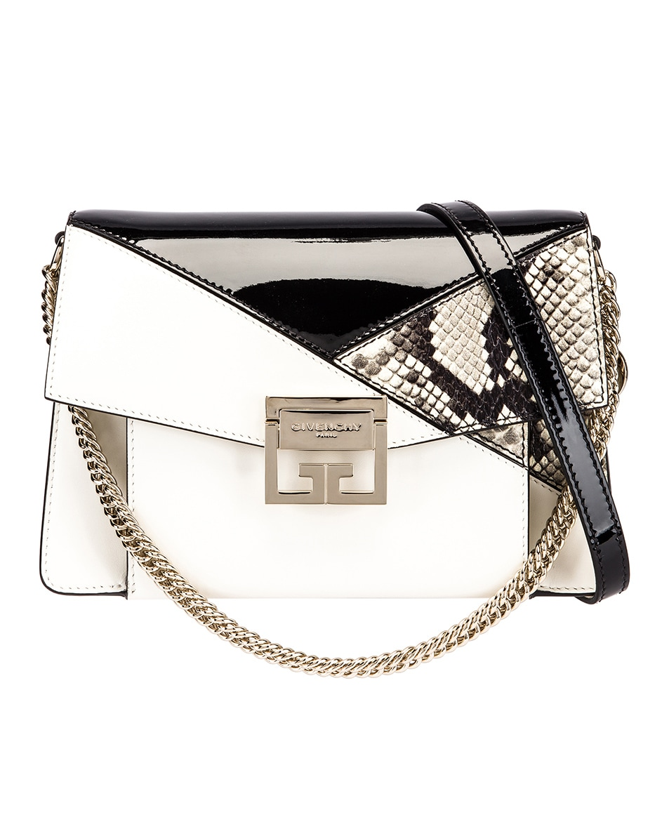 Image 1 of Givenchy Small Mixed Leather GV3 in Black & White