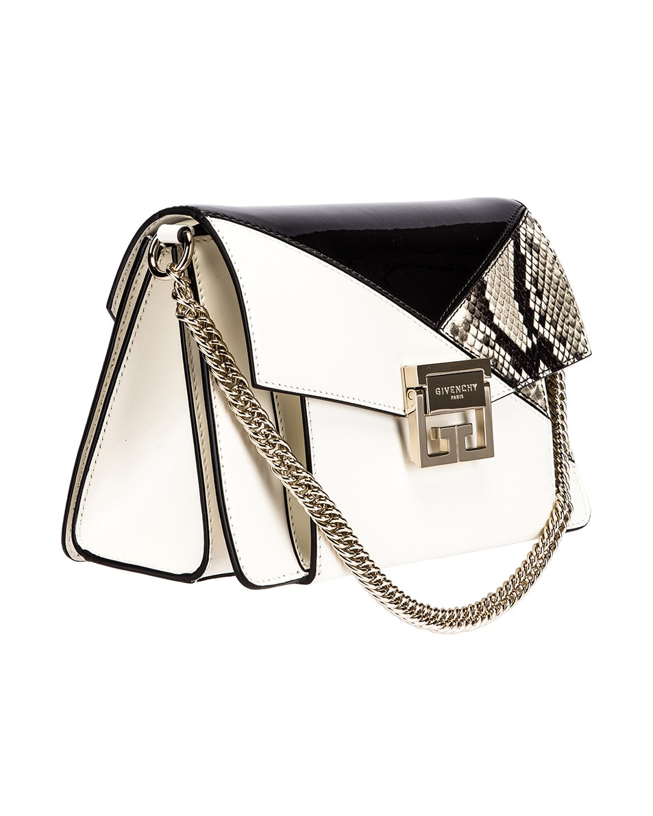 Image 4 of Givenchy Small Mixed Leather GV3 in Black & White