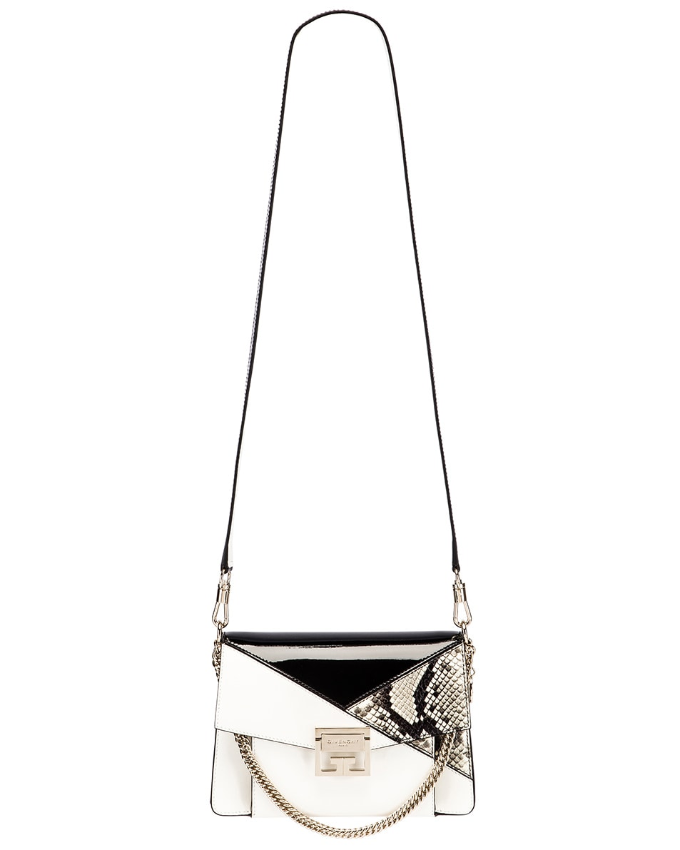 Image 6 of Givenchy Small Mixed Leather GV3 in Black & White