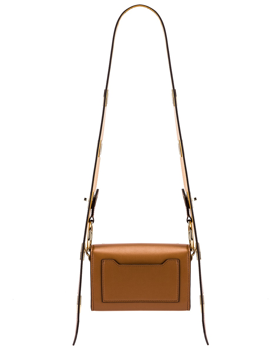 Image 3 of Givenchy Nano Eden Leather Contrasted Details Bag in Pony Brown