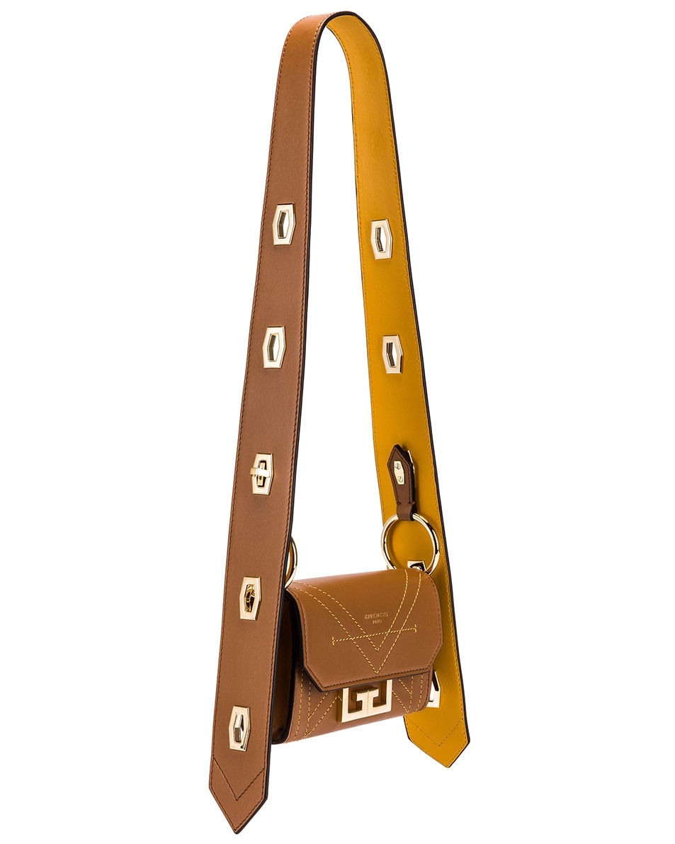 Image 4 of Givenchy Nano Eden Leather Contrasted Details Bag in Pony Brown