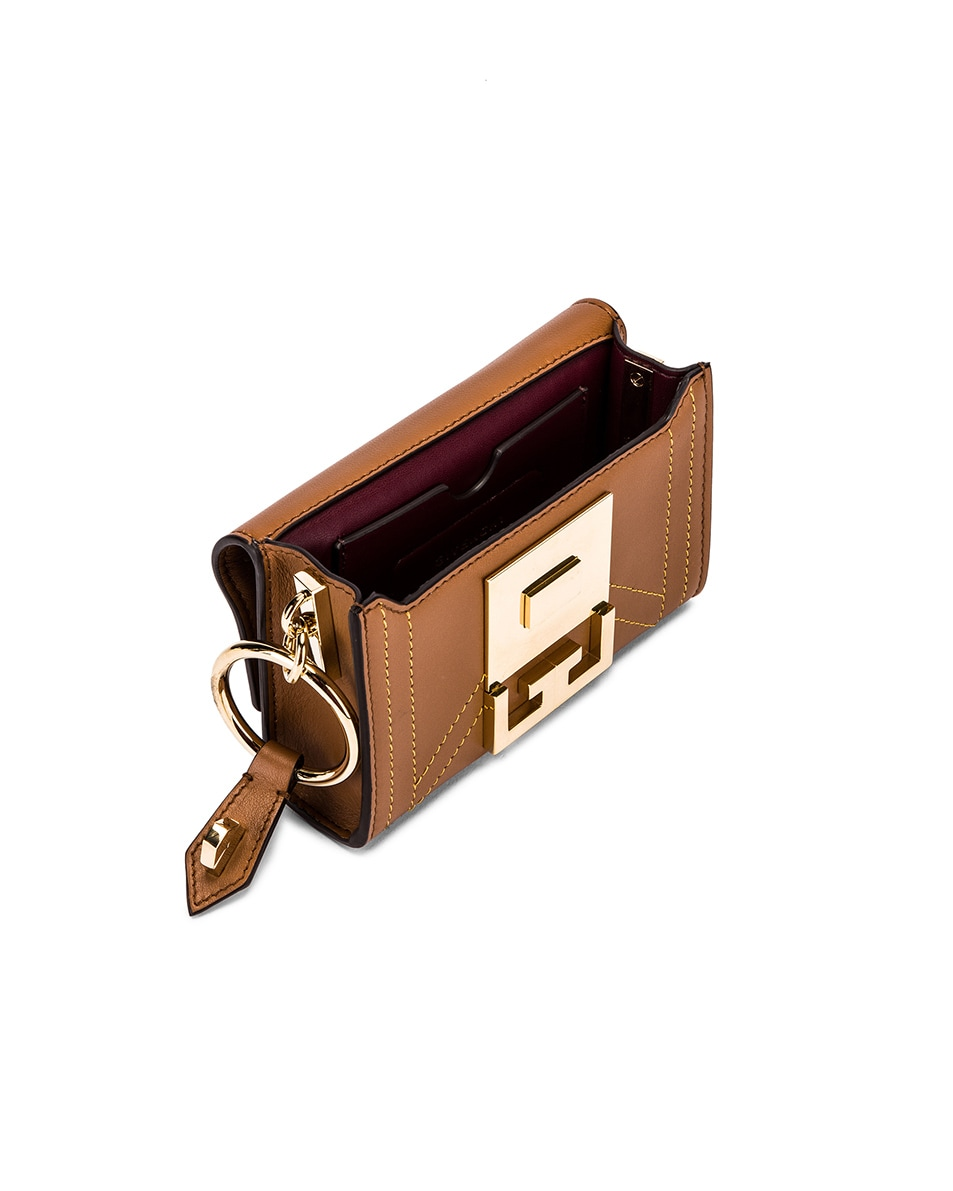 Image 5 of Givenchy Nano Eden Leather Contrasted Details Bag in Pony Brown