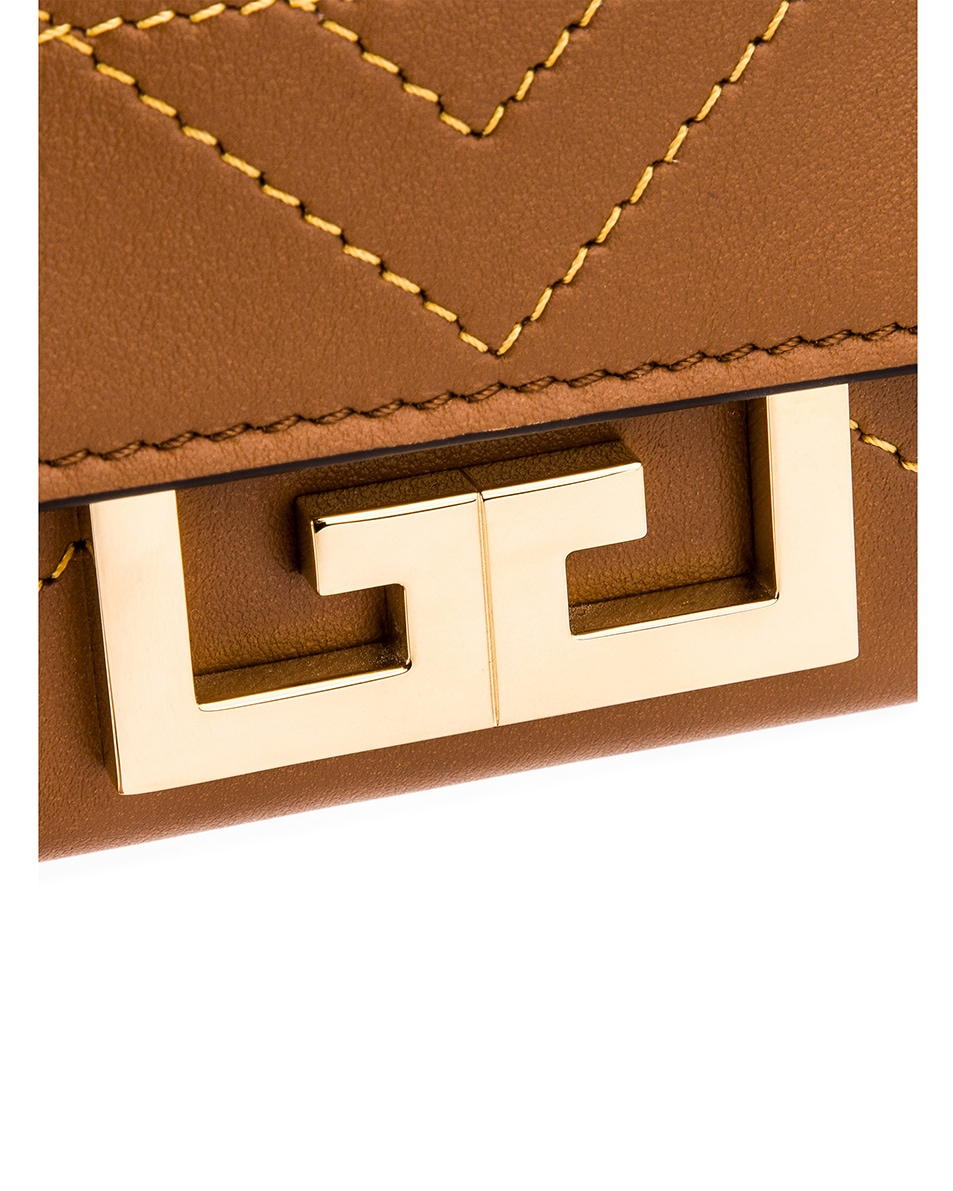 Image 8 of Givenchy Nano Eden Leather Contrasted Details Bag in Pony Brown
