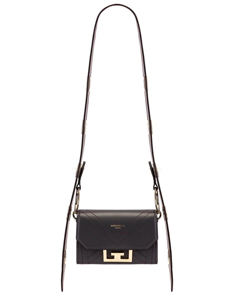 Image 1 of Givenchy Nano Eden Leather Contrasted Details Bag in Storm Grey