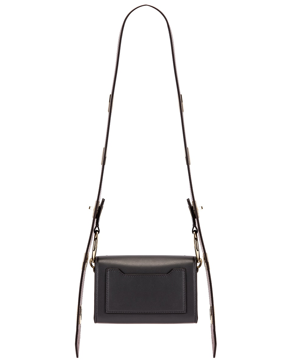 Image 3 of Givenchy Nano Eden Leather Contrasted Details Bag in Storm Grey