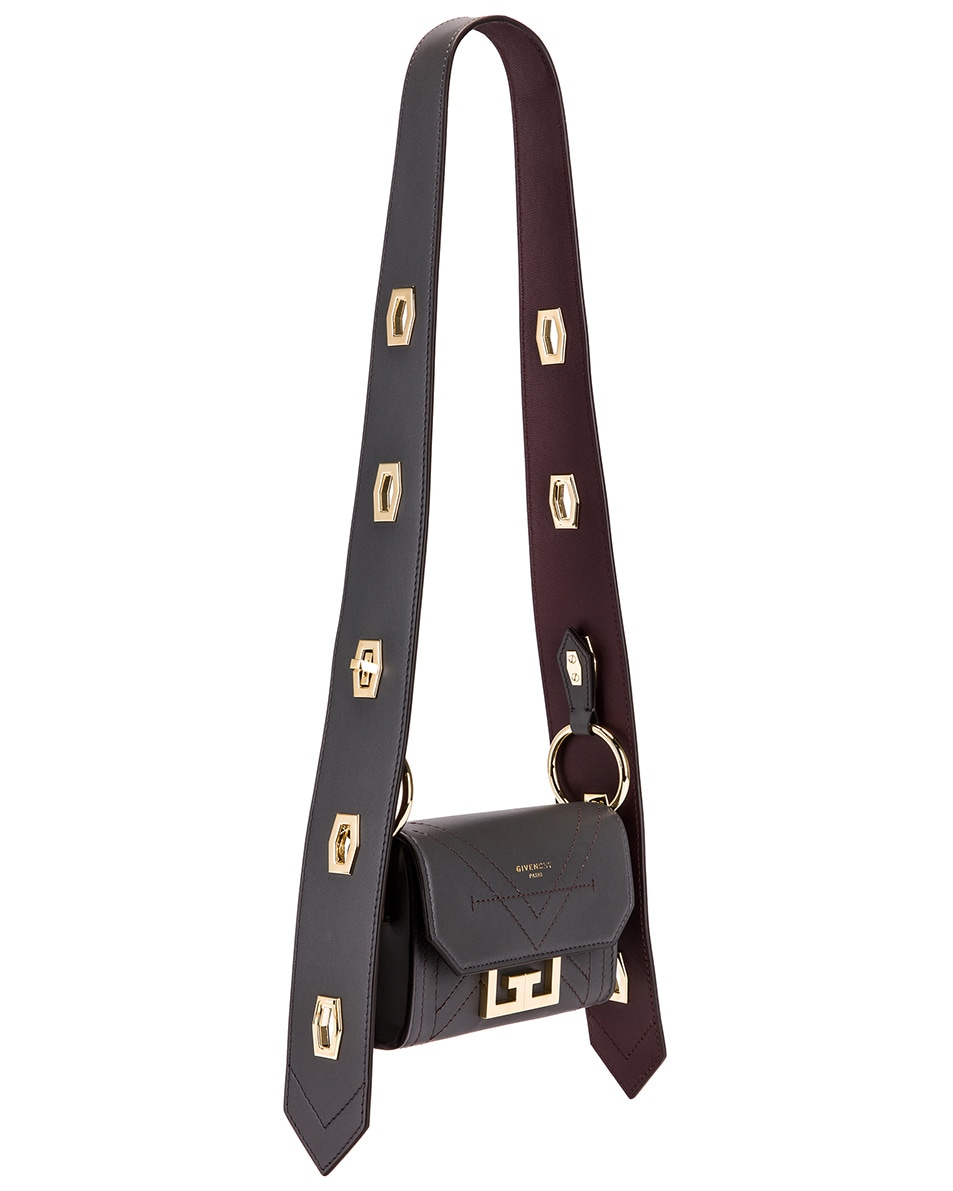 Image 4 of Givenchy Nano Eden Leather Contrasted Details Bag in Storm Grey