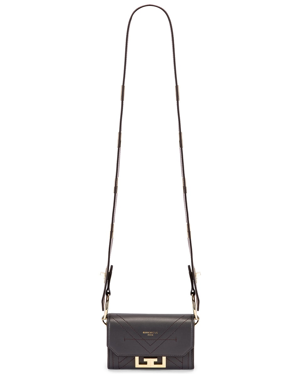 Image 6 of Givenchy Nano Eden Leather Contrasted Details Bag in Storm Grey