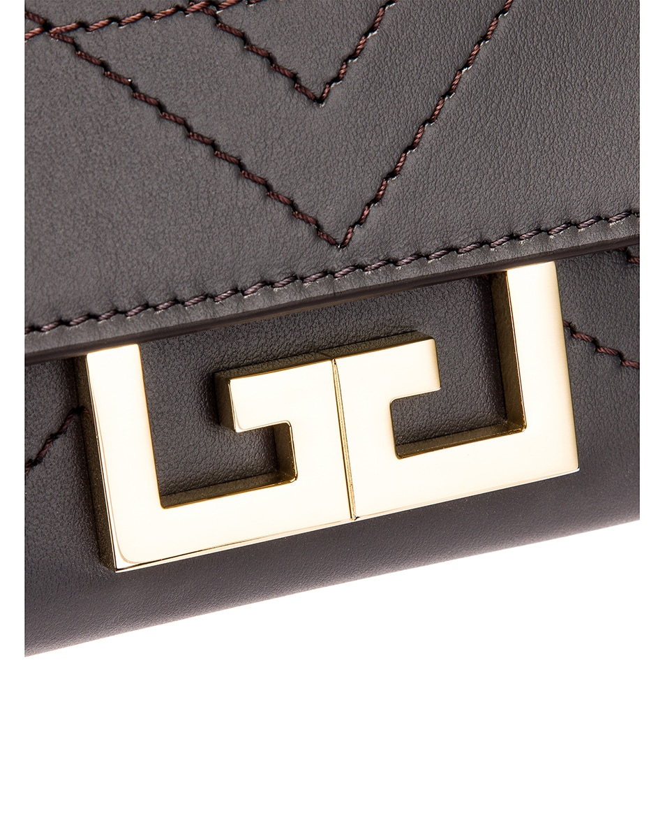 Image 8 of Givenchy Nano Eden Leather Contrasted Details Bag in Storm Grey