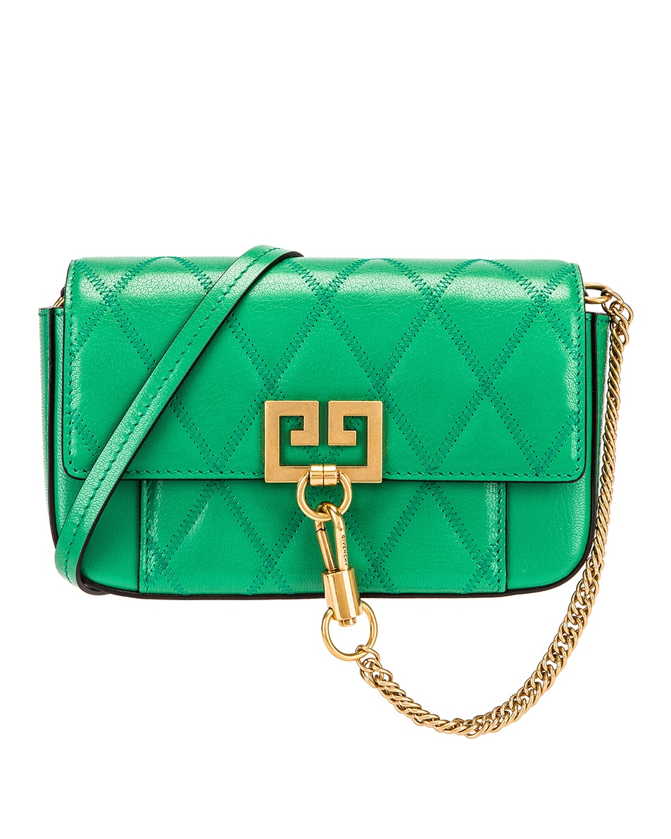 Image 1 of Givenchy Mini Pocket Quilted Leather Bag in Grass Green