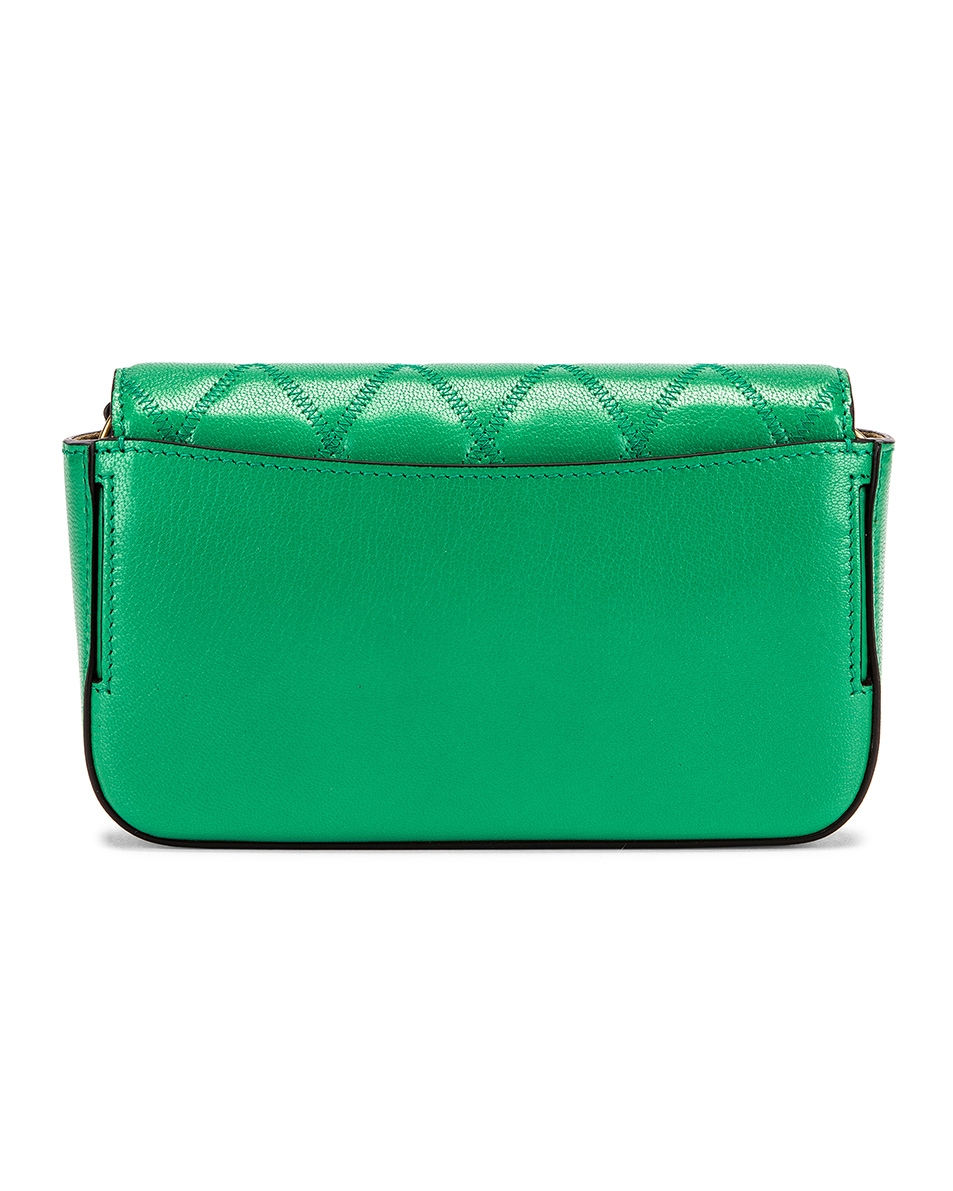 Image 3 of Givenchy Mini Pocket Quilted Leather Bag in Grass Green