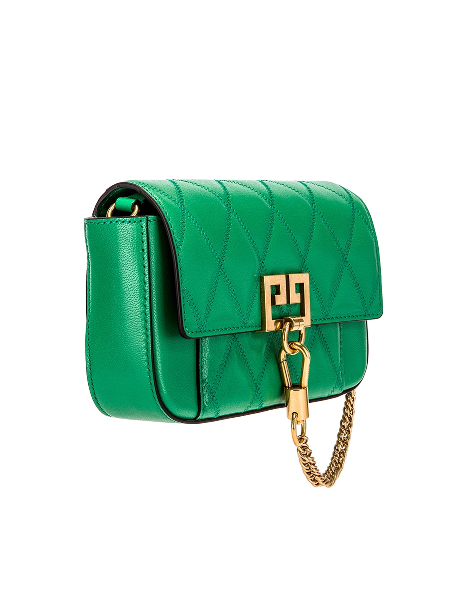 Image 4 of Givenchy Mini Pocket Quilted Leather Bag in Grass Green