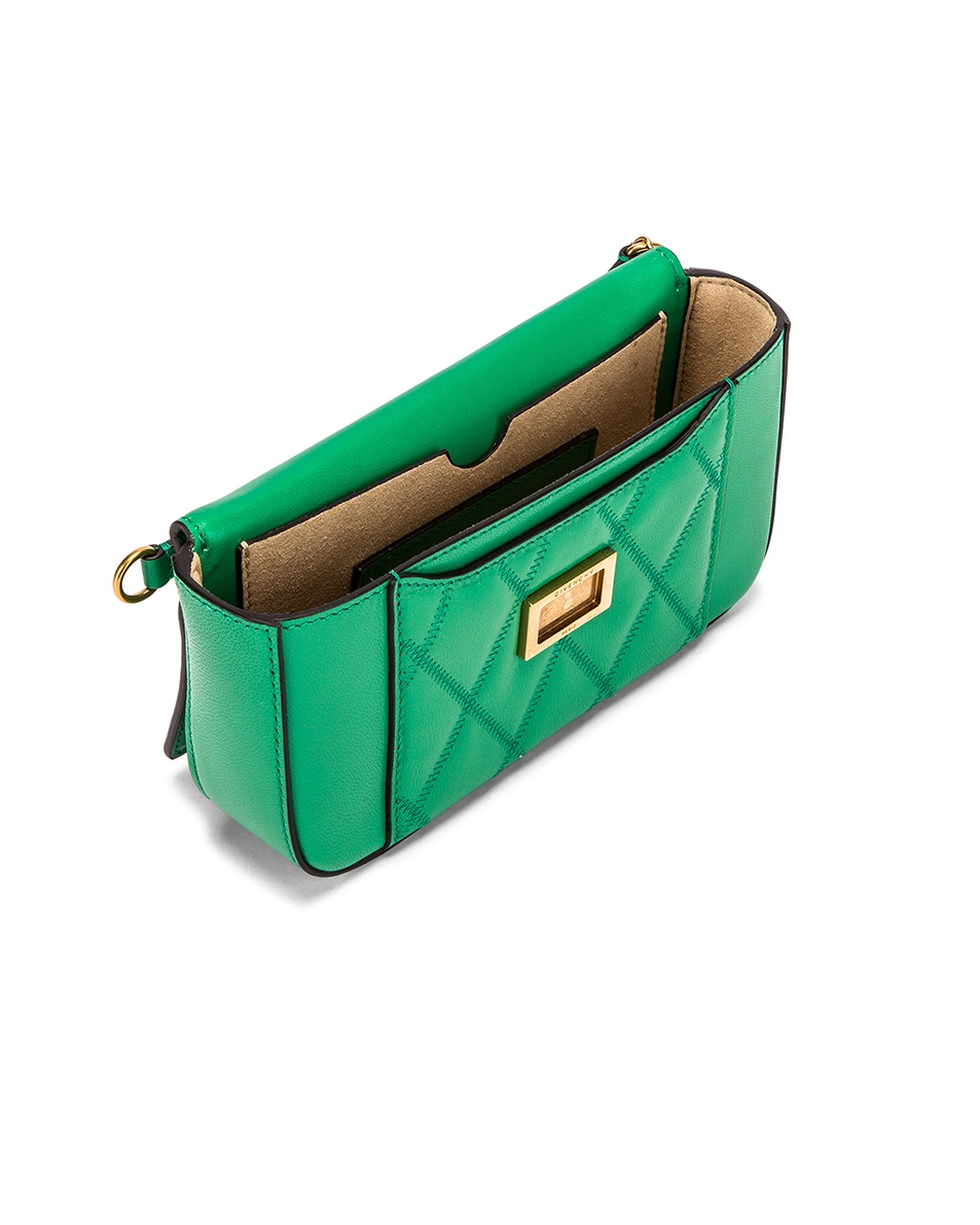 Image 5 of Givenchy Mini Pocket Quilted Leather Bag in Grass Green