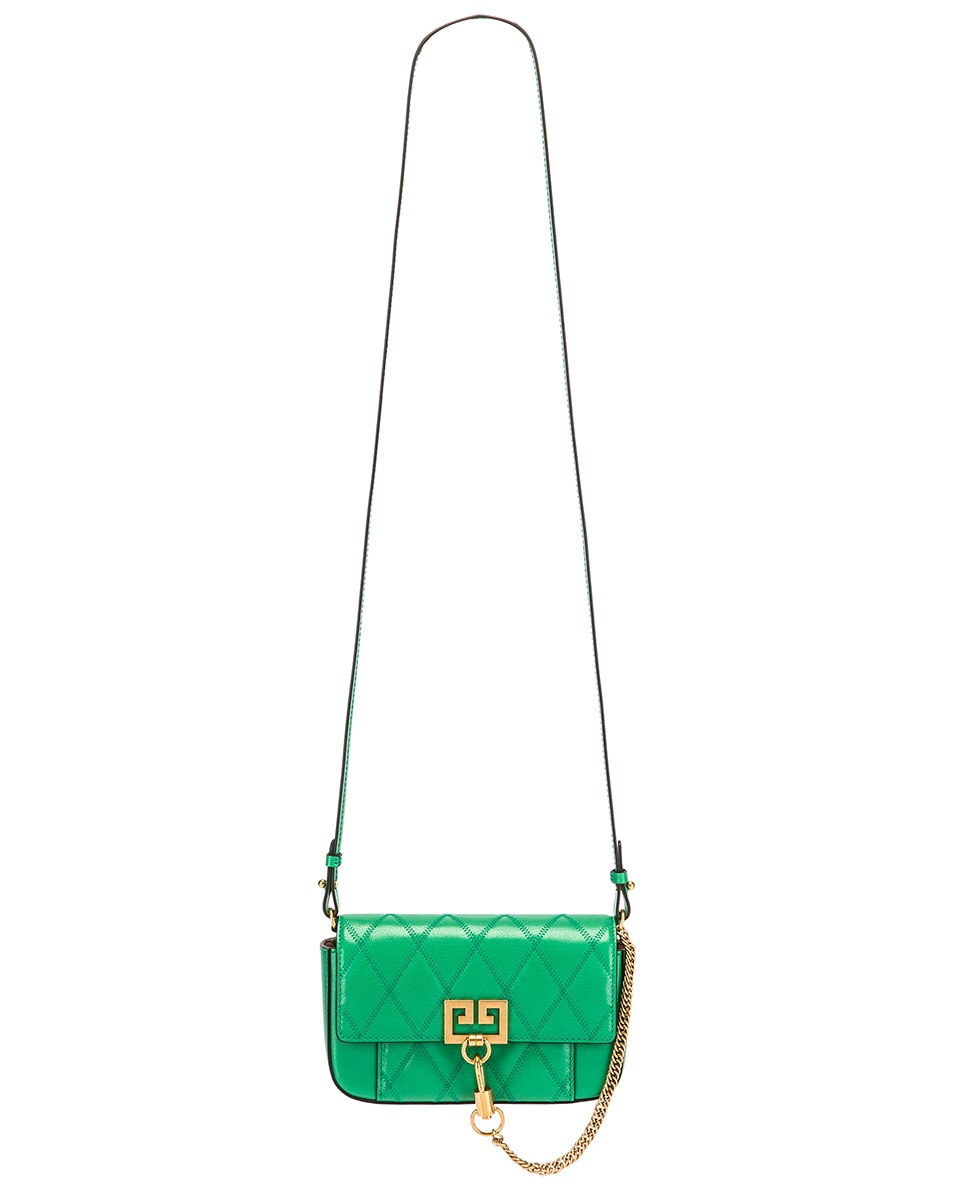 Image 6 of Givenchy Mini Pocket Quilted Leather Bag in Grass Green