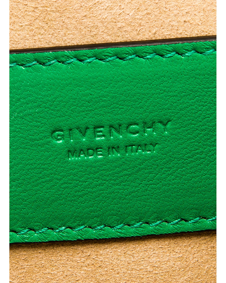 Image 7 of Givenchy Mini Pocket Quilted Leather Bag in Grass Green