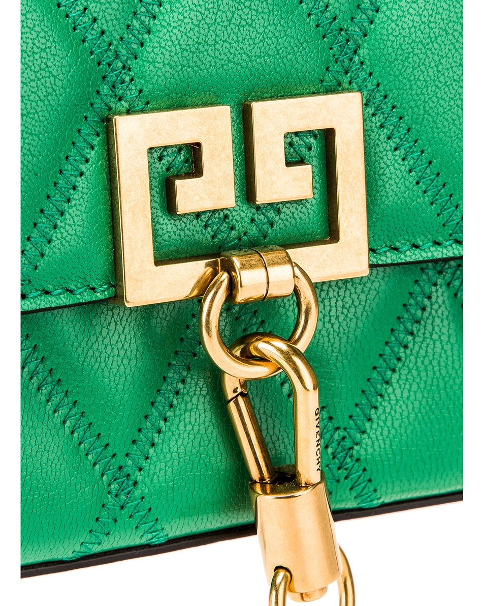 Image 8 of Givenchy Mini Pocket Quilted Leather Bag in Grass Green