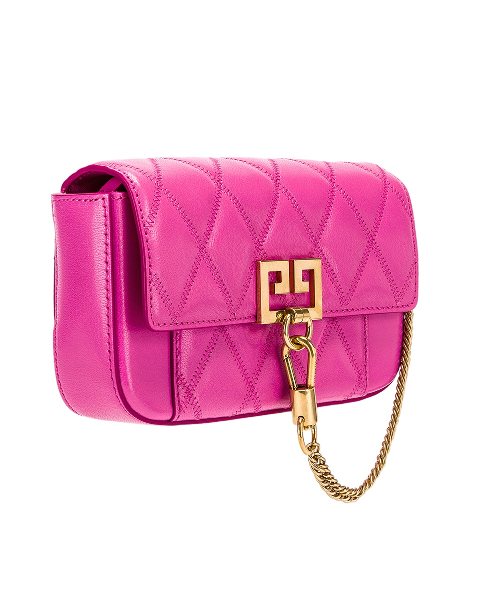 Image 4 of Givenchy Mini Pocket Quilted Leather Bag in Sorbet Pink