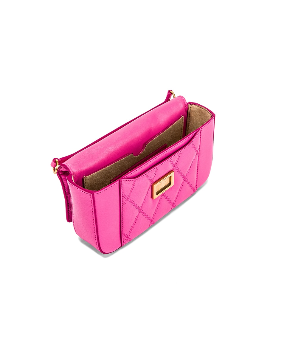 Image 5 of Givenchy Mini Pocket Quilted Leather Bag in Sorbet Pink