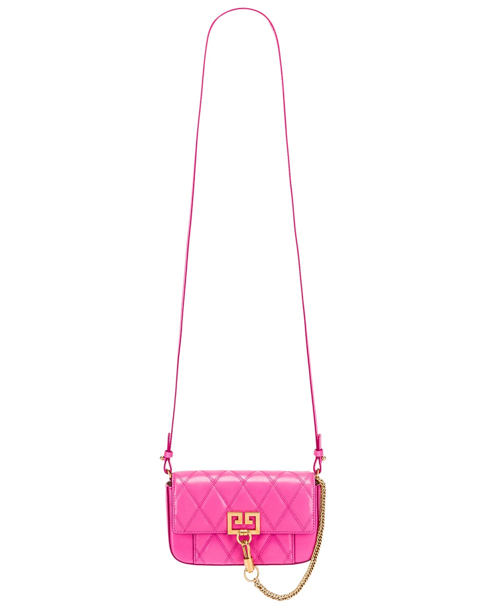 Image 6 of Givenchy Mini Pocket Quilted Leather Bag in Sorbet Pink