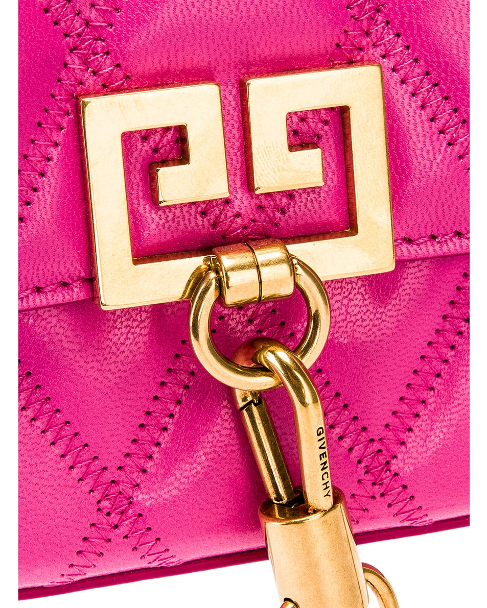Image 8 of Givenchy Mini Pocket Quilted Leather Bag in Sorbet Pink