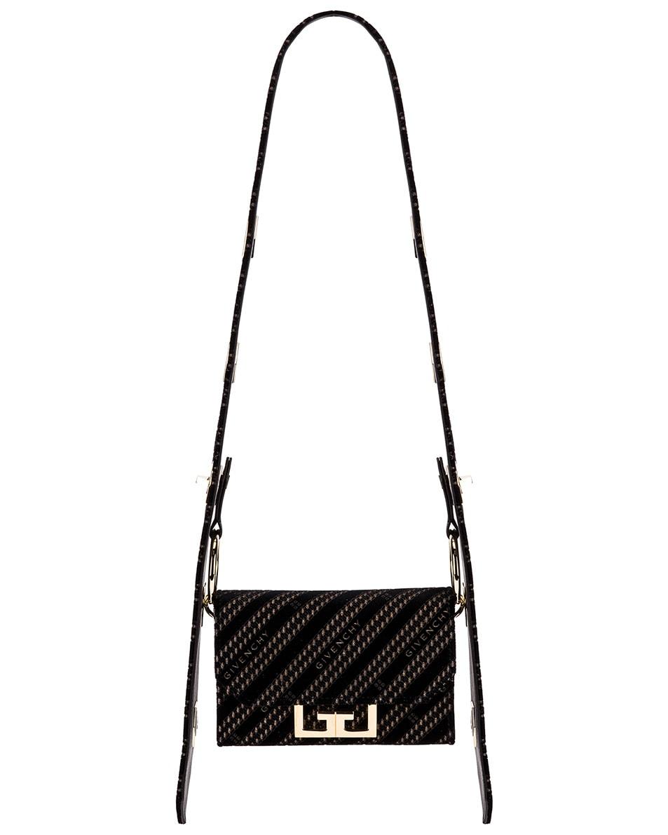 Image 1 of Givenchy Nano Eden Lasered Velvet Bag in Black
