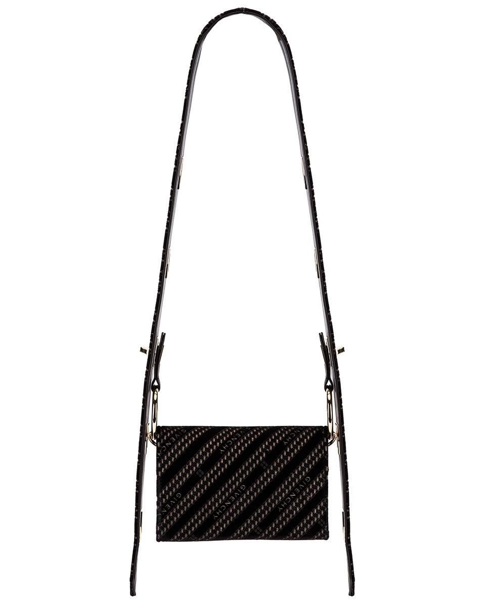 Image 3 of Givenchy Nano Eden Lasered Velvet Bag in Black