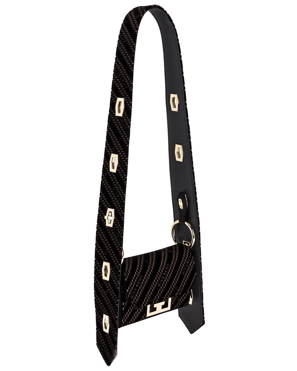 Image 4 of Givenchy Nano Eden Lasered Velvet Bag in Black