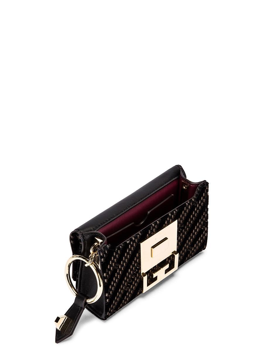 Image 5 of Givenchy Nano Eden Lasered Velvet Bag in Black