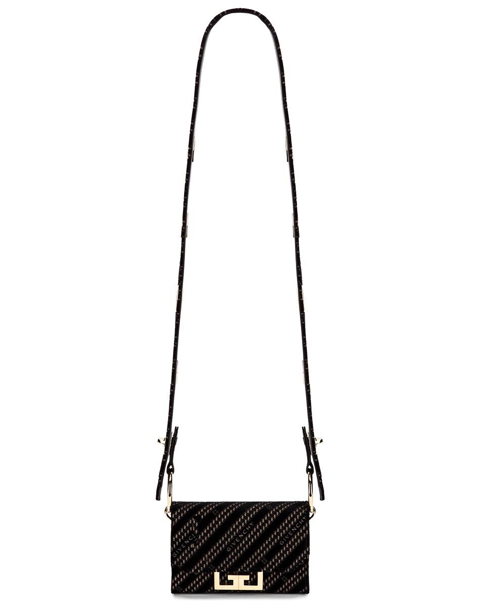 Image 6 of Givenchy Nano Eden Lasered Velvet Bag in Black